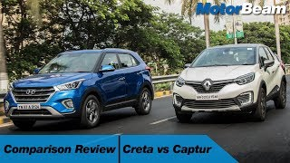 Hyundai Creta vs Renault Captur - Shootout | MotorBeam