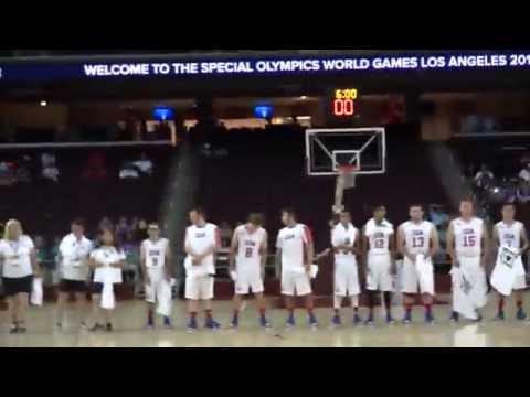 Special Olympics World Games Los Angeles 2015 Team USA (NY) Basketball