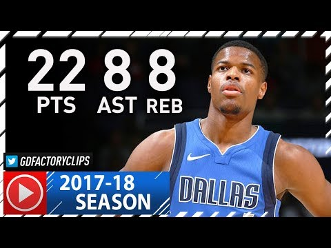 Dennis Smith Jr.  Full Highlights vs Wizards (2017.11.07) - 22 Pts, 8 Ast, 8 Reb