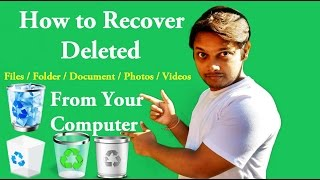 How to Recover Deleted Files | Folder | Photos | Videos [Hindi/Bengali]