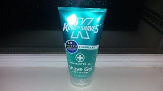 King Of Shaves gel shaving review, antibacterial