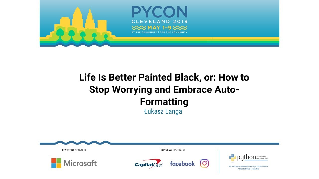Image from Life Is Better Painted Black, or: How to Stop Worrying and Embrace Auto-Formatting