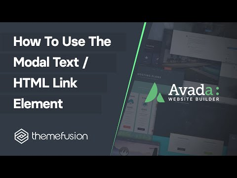 How To Use The Modal Text / HTML Link Element Video