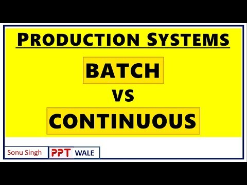 BATCH VS CONTINUOUS PROCESSING IN HINDI | Difference | Production Systems | BBA/MBA | ppt