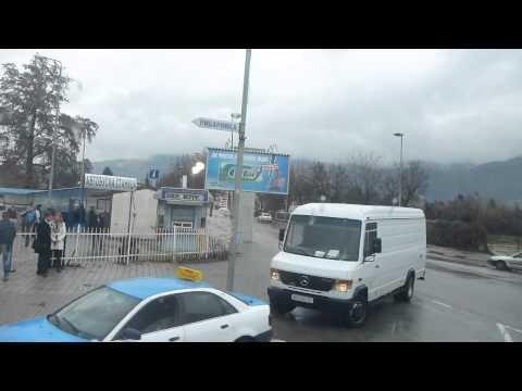 Leaving Ohrid on a bus for Skopje   Macedonia   December 2014