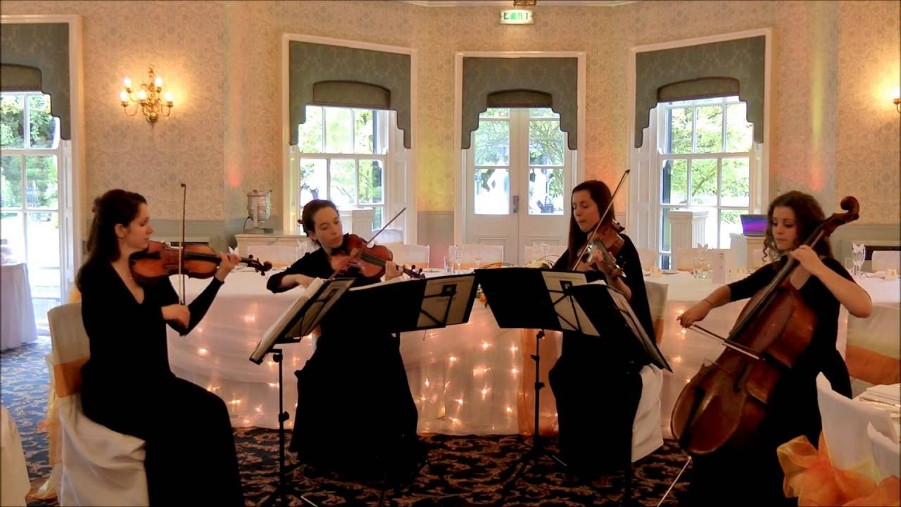 Contemporary wedding ceremony music string quartet tribute
