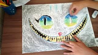 часть два порисованию чеширского кота