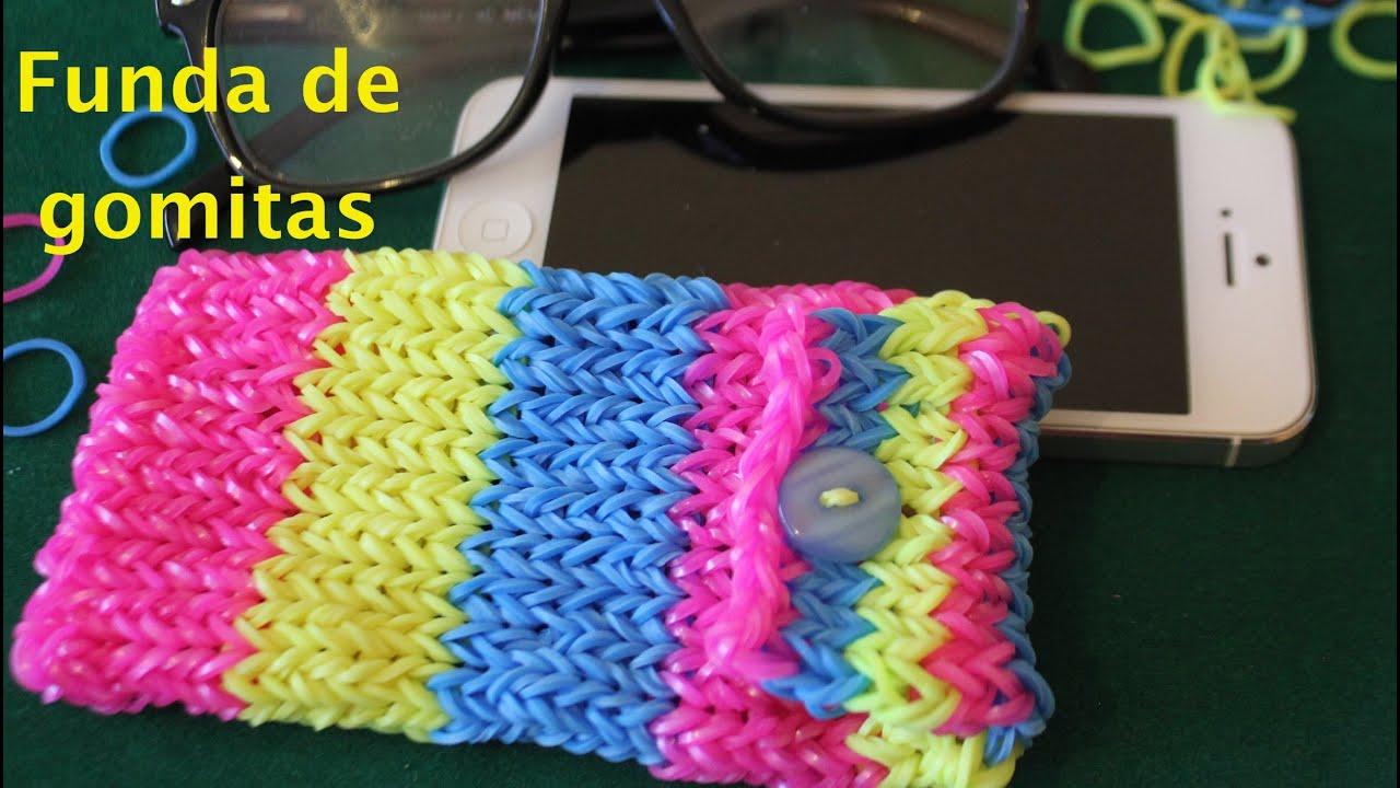 C mo hacer con gomitas o ligas una funda rainbow loom phone case youtube - Donde comprar fundas para moviles ...