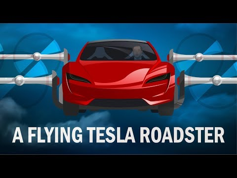 A flying Tesla Roadster and the future of electric flying cars.