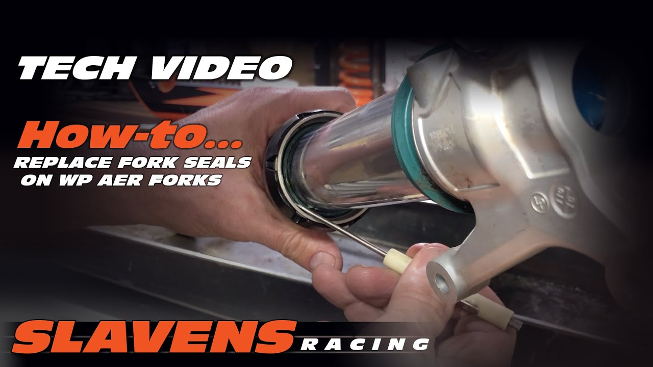 How-to Replace Fork Seals on WP AER Forks - Slavens Racing
