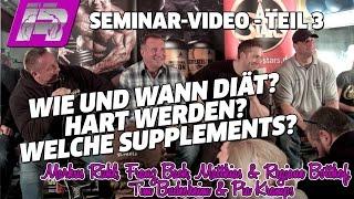 Ernährungsplan für Diät | Welche Supplements sind sinnvoll? | Bodybuilding-Seminar (Teil 3)