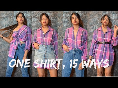 WAYS TO STYLE | ONE BUTTON-UP SHIRT IN 15 WAYS | SUPER PRACTICAL | MODA YALDA thumbnail