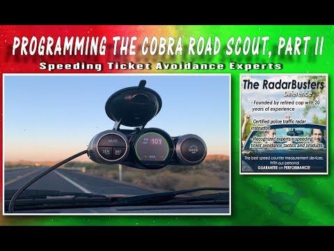 How To Program Configure Cobra Road Scout Instructions, Part II