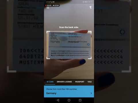 BlinkID free demo app