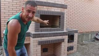 Краснодар печной комплекс.Мангал,плита под казан,мойка.Рассказываю о его строительстве.