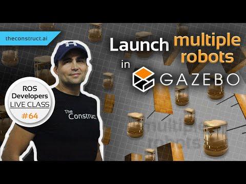 ROS Developers LIVE-Class #64: Multiple Robots Navigation In Gazebo