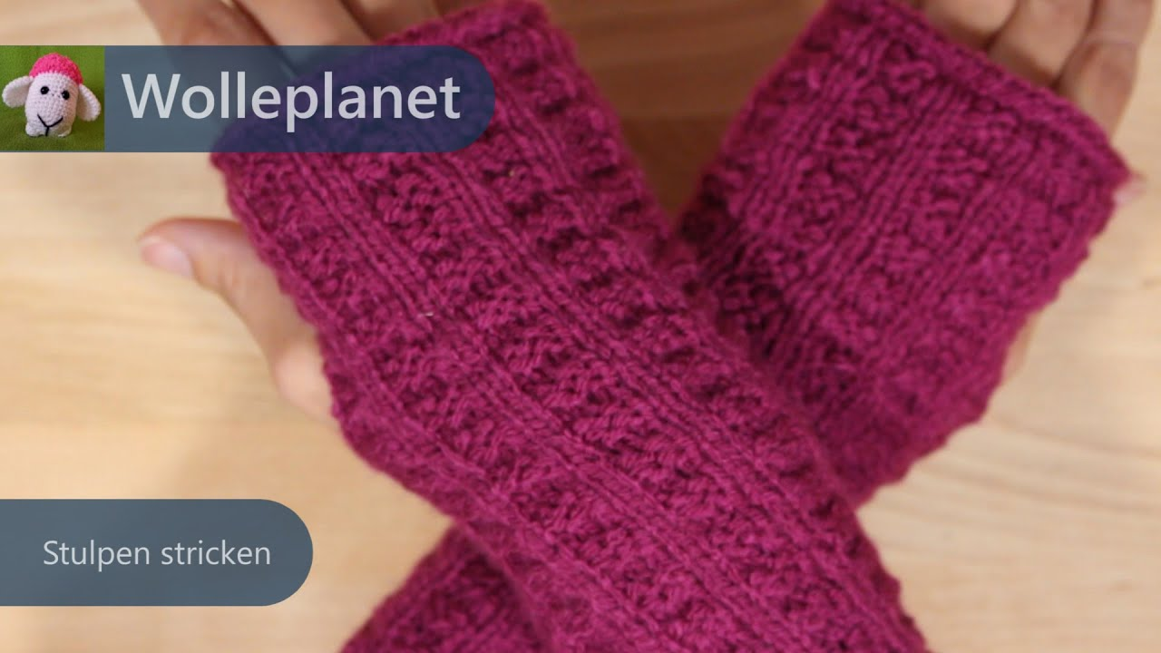 Handstulpen stricken - YouTube