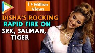 """Disha Patani: """"Salman Khan SWAG, Shah Rukh Khan SUPERSTAR""""  Rapid Fire   Bharat"""