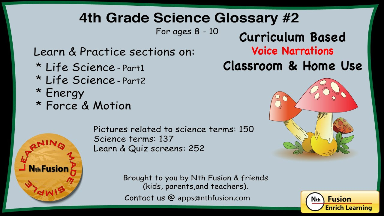 hight resolution of 4th Grade Science Glossary # 2 : Learn and Practice Worksheets for home and  classroom - YouTube