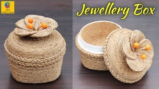 Plastic Container Jewellery Box with Jute Rope | Jewellery Box | Plastic Container Jewellery Box