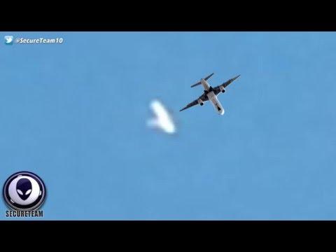 UFO Posing As A Plane Spooks Man Recording It