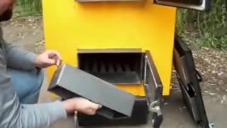Видео обзор, твердотопливные котлы отопления длительного горения Kronas Unic (Кронас Уник)