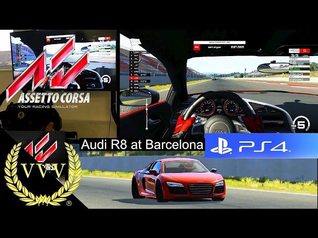 Assetto Corsa PS4 - Audi R8 - Barcelona Race