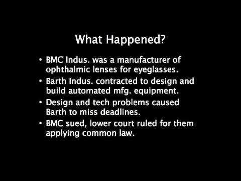 BMC Industries, Inc. V. Barth Industries, Inc Case Summary