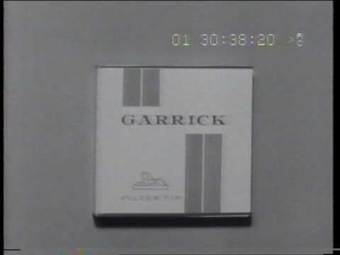 Garrick 'Tip filter' cigarettes 1960 TV commercial