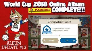 ⚽ 100% COMPLETE!!!   Panini FIFA WORLD CUP 2018 STICKER ALBUM  ⚽ VIRTUAL ONLINE