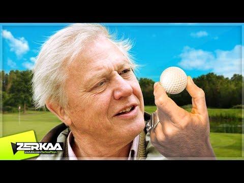 DAVID ATTENBOROUGH PLAYS MINIGOLF! (Golf It)