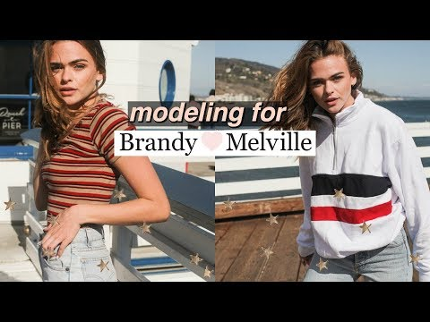What Its Like to Model for Brandy Melville + HUGE clothing haul! | Summer Mckeen