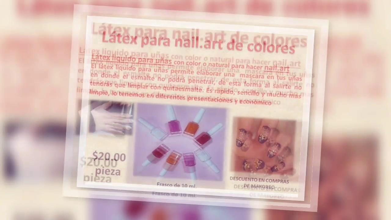 Latex Para Uñas Nail Art Youtube