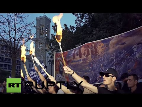 Greece: Golden Dawn supporters commemorate the fall of Constantinople