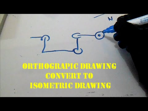 How Orthographic Drawing Convert to Isometric Drawing