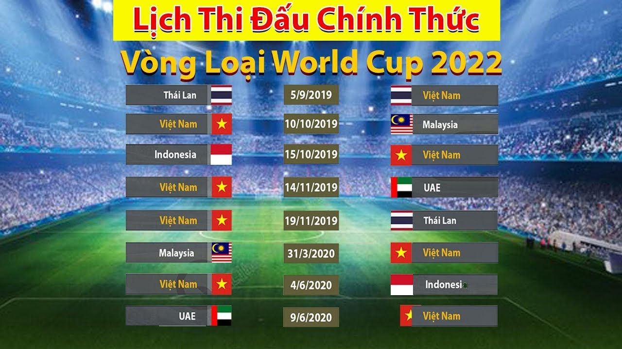 ⚽ Bóng Đá Việt Nam - Thái Lan: Lịch Thi Đấu Vòng Loại World Cup 2022 #1