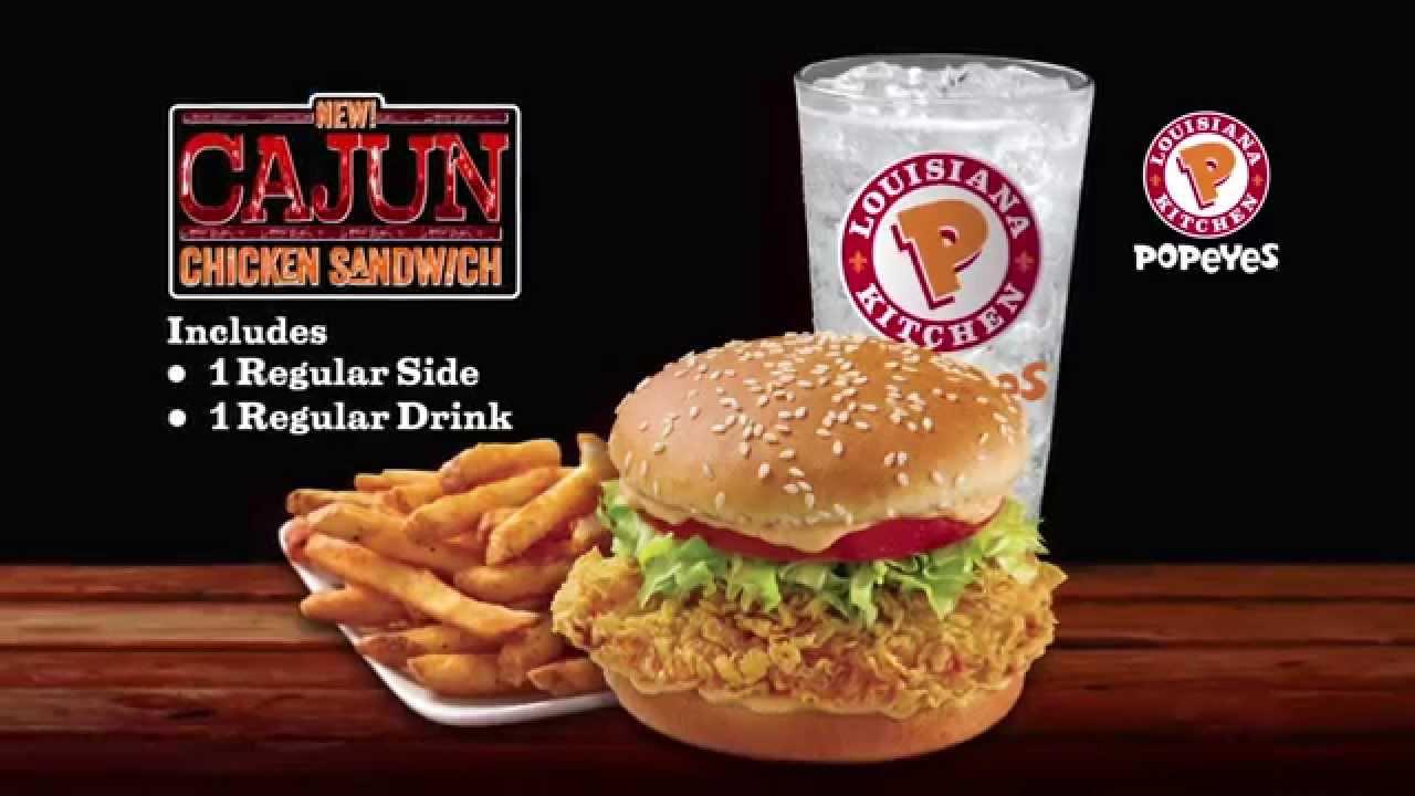 popeyes chicken sandwich Popeyes Cajun Chicken Eng Sandwich - YouTube