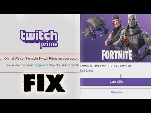 c887656d4d7715 Oh no we can't enable twitch prime on your account FIX!FOUND THE PROBLEM! -  YouTube