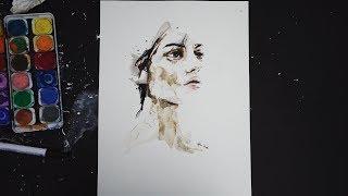 1 € Wasserfarben Portrait !