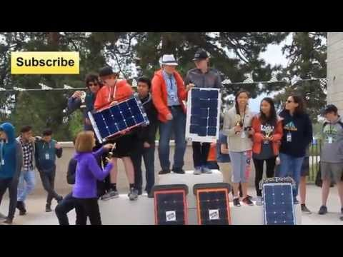 Solar Powered RC cars at the Denver Science Museum Solar Rollers High School Competition