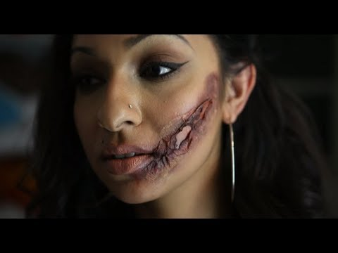 Nalanie - How to: SCARS - Halloween Special FX Make Up - YouTube
