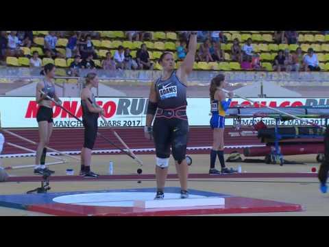 Monaco 2016: Womens Shot Put - Top 3 - IAAF Diamond League