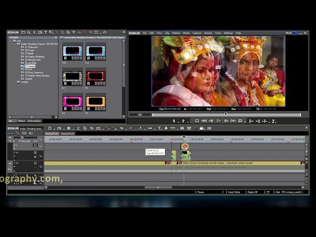 Indian Wedding Frames # Jai Mala & Wedding Chair, #Edius 7,8,9 Wedding Effects ( DVD-3 )