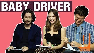 ANSEL ELGORT, EDGAR WRIGHT & LILY JAMES FROM 'BABY DRIVER' PLAY 'GUESS THE SONG'
