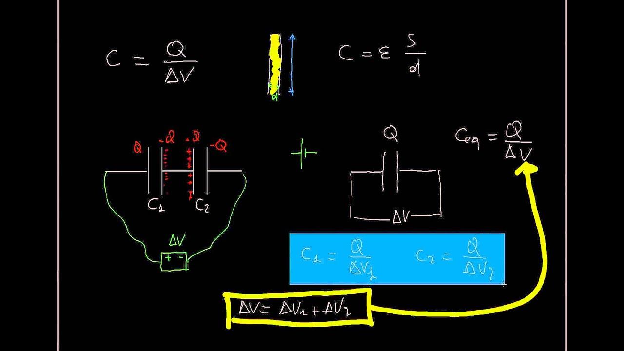 Schema Collegamento Neon In Serie : Fisica collegamento di condensatori in serie ed