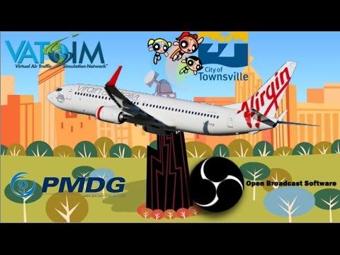 Easter Spilled Milk Run visits Townsville on Vatsim. PMDG 737NGX