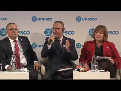 Intervención de Ernesto Villegas, ministro de Cultura de Venezuela, en foro en la Unesco