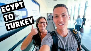 FLYING FROM EGYPT TO ISTANBUL | Egypt Air & Turkish Airlines