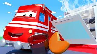 Troy der Zug -  Der Pizza Zug  - Autopolis 🚄 Lastwagen Zeichentrickfilme für Kinder