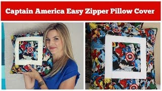 Captain America Easy Zipper Pillow Cover